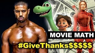 Box Office for The Good Dinosaur, Creed, Victor Frankenstein, Mockingjay Part 2, Brooklyn