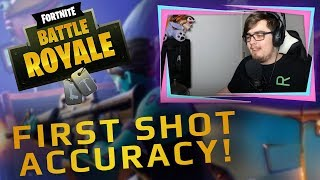 Fortnite First Shot Accuracy! | Fortnite Shooting Test Results | Dowsey's Fortnite Gameplay #3