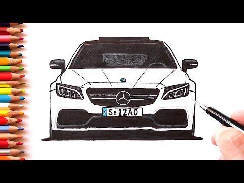 Как нарисовать машину Мерседес-Бенц