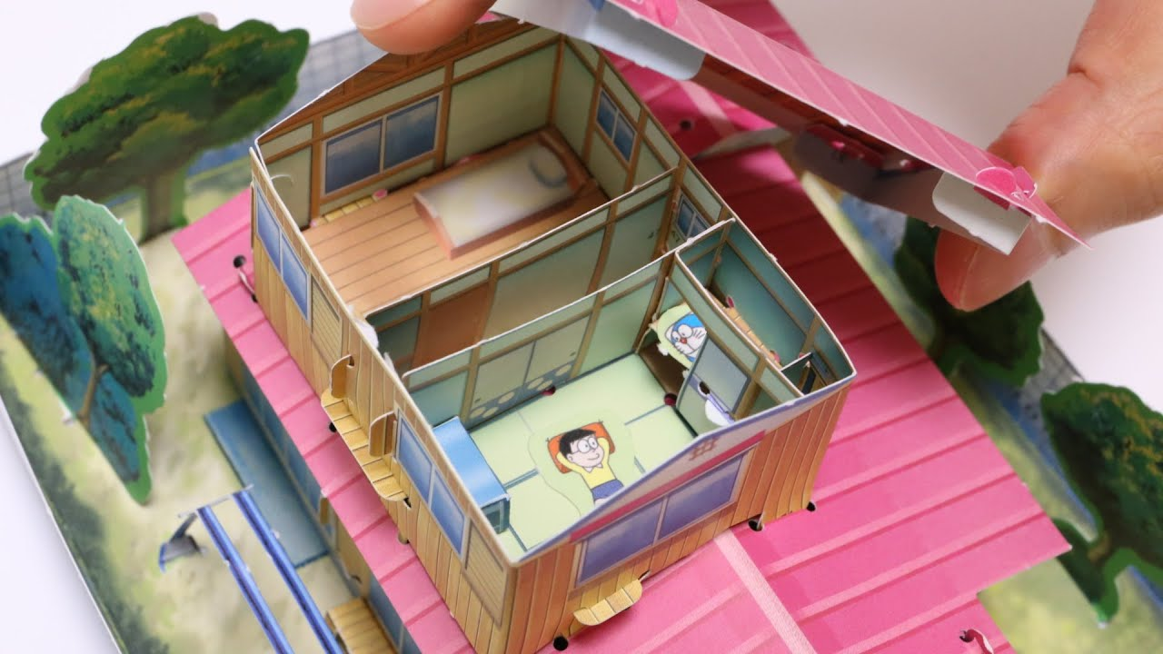 Kitchen In Japanese Diy Doraemon House Paper Craft Youtube