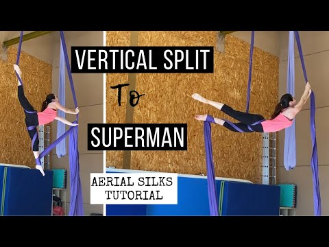 Aerial Silks Vertical Split To SuperMan | Telas Aéreas Split a SuperMan