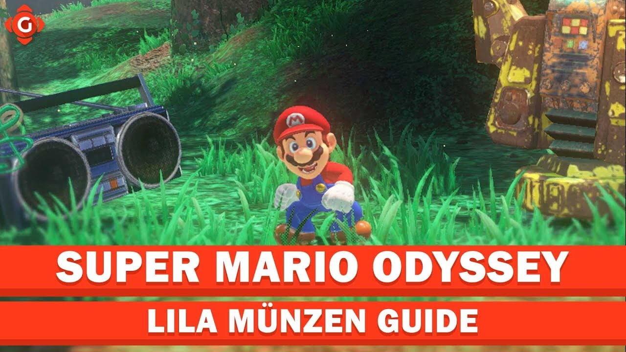 Super Mario Odyssey Alle Sammelobjekte Lila Münzen Forstland