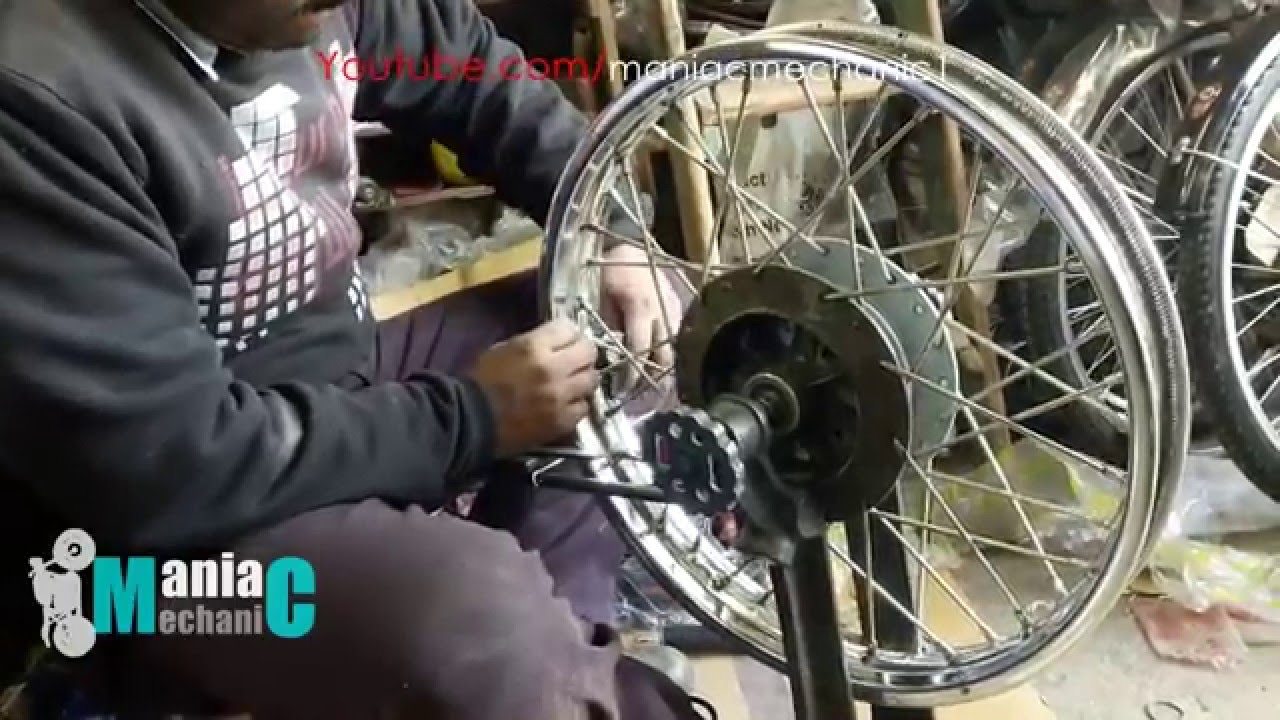 How To Repair Align Spoke Wheel All Type Royal Enfield