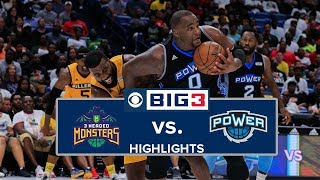 BIG3 Championship | 3 Headed Monsters vs. Power | Highlights (3rd Place Game)