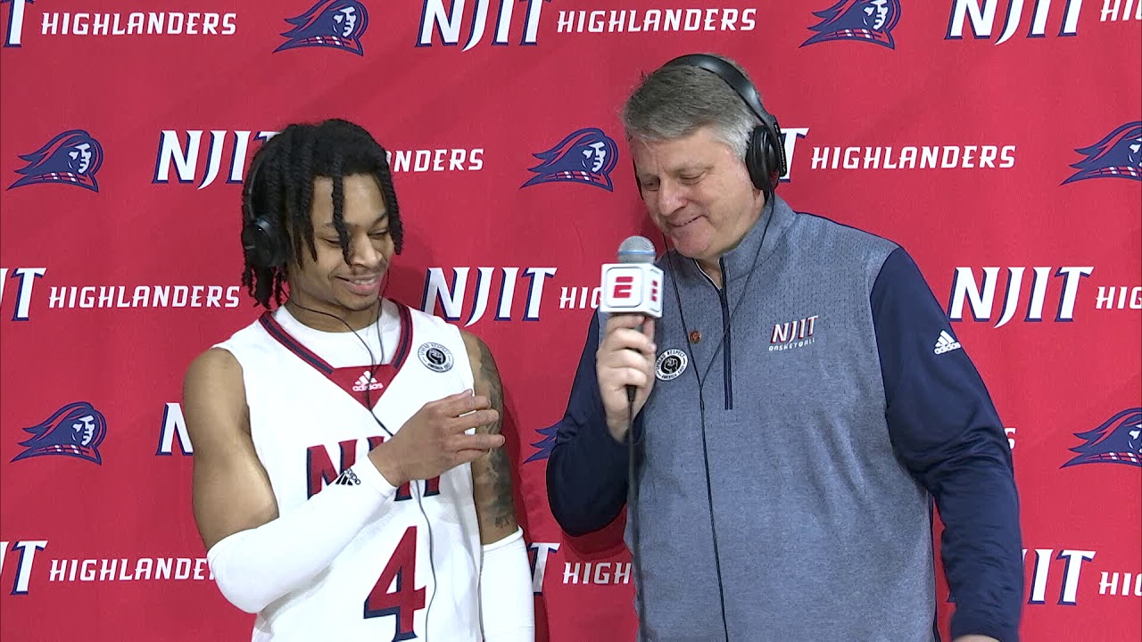 Post-game Interviews with Head Coach Brian Kennedy and Zach Cooks (NJIT vs StonyBrook)