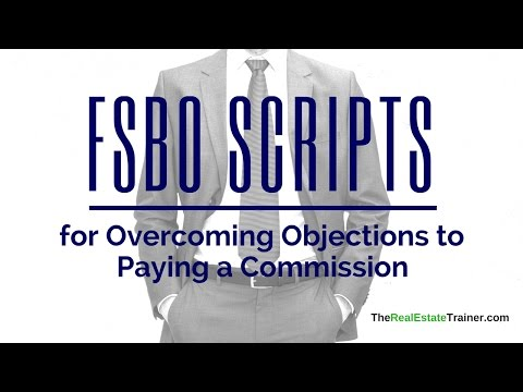 FSBO Objections over Paying a Commission