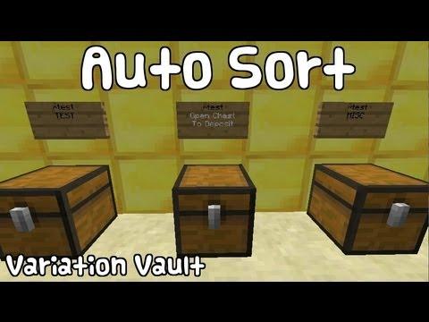 Minecraft Bukkit Plugin - Auto Sort - Chests that sort into groups!