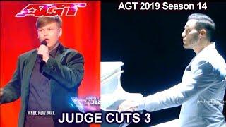 Patrizio Ratto pianist dancer – Jacob Norton singer | America's Got Talent 2019 Judge Cuts