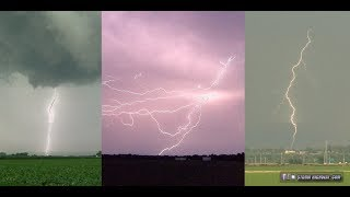 Crazy day of lightning north and east of St. Louis! Close strike! June 11, 2018
