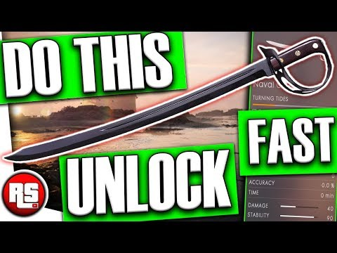 NAVAL CUTLASS: How to unlock new melee weapon (FAST!) Battlefield 1 - bf1 turning tides dlc