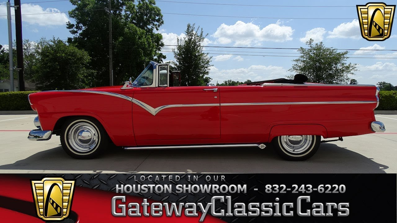 1955 Ford Sunliner Gateway Classic Cars 1239 Houston Showroom Youtube F100 Heater Core