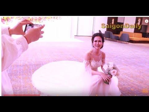 Đám cưới Võ Hạ Trâm: cô dâu cực hài hước trước giờ lên làm lễ cưới ở nhà hàng