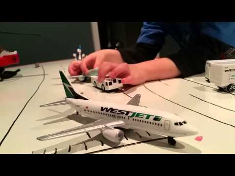 Air Canada And Westjet Airplane Set