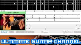 [Guitar Solo Tab] Come fly with me (Crooner)