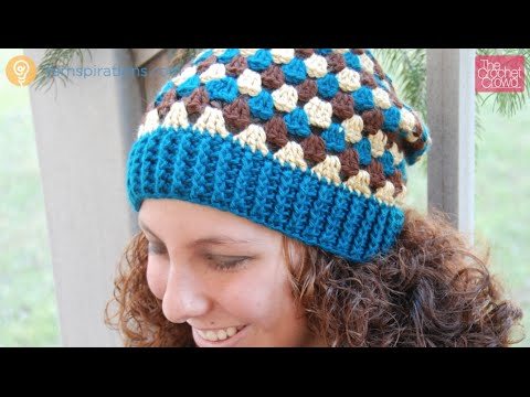 How to Crochet A Hat  Granny Stripes Hat Left Handed - YouTube 8373b90625d