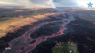 Lava flowing from fissure 8 to sea