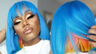 NIPSEY BLUE Peekaboo bob START to FINISH | AVOID STAINED LACE & EASILY cut a BOB | Beginner friendly