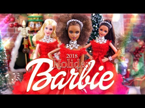"Unbox Daily: ALL NEW 2018 Holiday Barbie Haul | 28"" BFF 