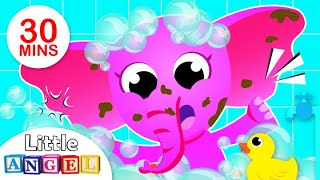 Bath Time Song | Healthy Habits | Puppies & Itsy Bitsy Spider Fun Kids Songs by Little Angel