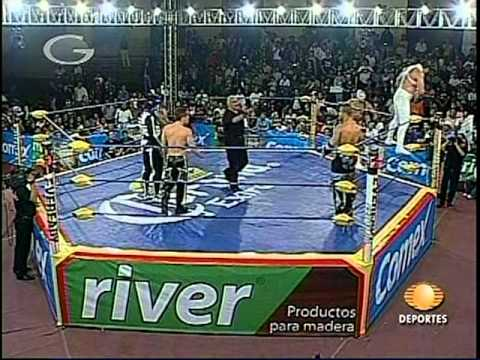 AAA: El Mesías, La Parka, Jack Evans vs. Electroshock, Silver King, Teddy Hart, 2009/06/17