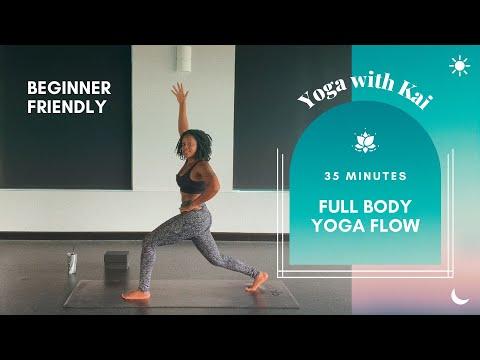 Loosen Up & Lighten Up Yoga Flow   Beginner Friendly 35 Minute Full Body Strength & Stretch Yoga