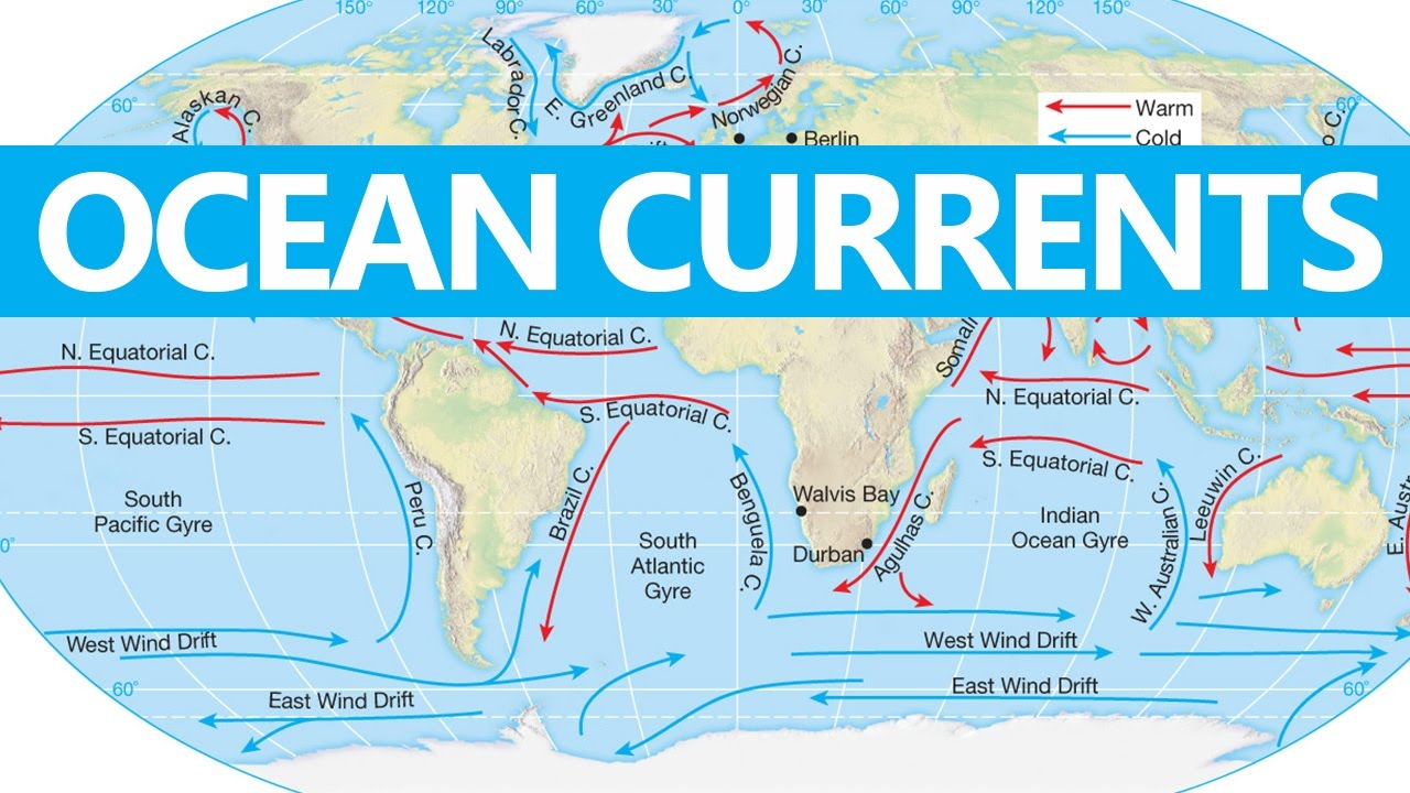 Major Ocean Currents Of The World Map.Geography For Upsc Cse Ocean Currents Civil Services Youtube