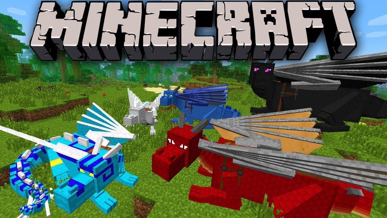 Мод Драконы для Minecraft
