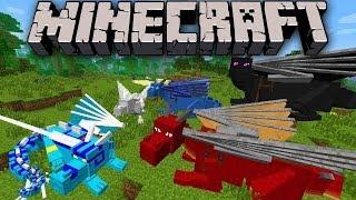 [Minecraft 1.7.2] Dragon mounts mod!Мод на эндер драконов+ 5 видов!