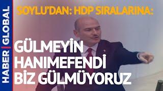 Süleyman Soylu Gara Açıklaması Yaparken HDP'li Vekile: Gülmeyin Hanımefendi!