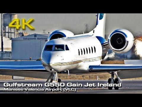 Gulfstream G550 [4K] Gain Jet Ireland (EI-LSY) Valencia!