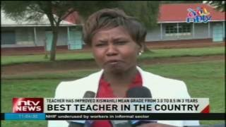 Kiswahili teacher at Karatina girls sec. school feted for outstanding work