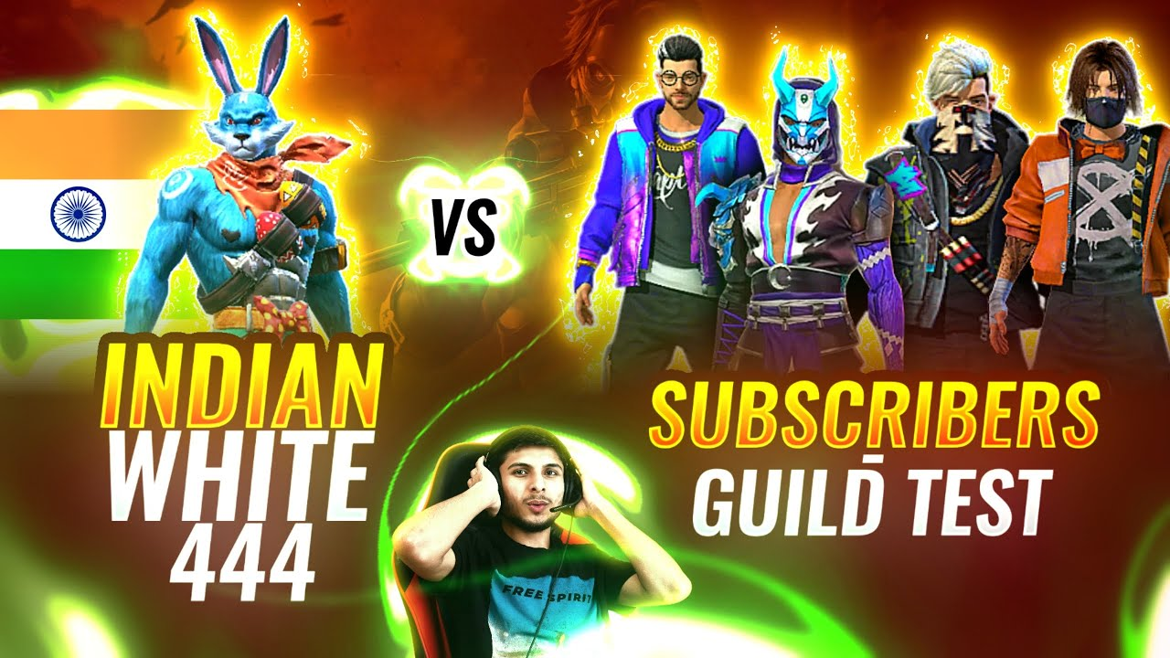 FREE FIRE LIVESTREAM WITH INDIAN WHITE444 VS PRO SUBSCRIBERS  #nonstopgaming - GARENA FREE FIRE LIVE