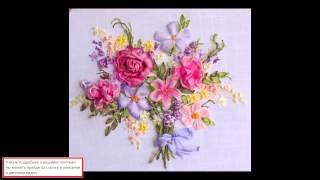 Вышивка Лентами Сирень И Розы:Вышивка лентами
