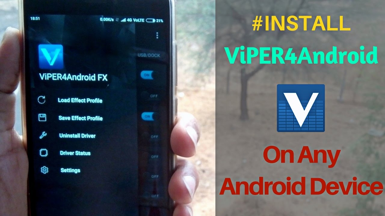 Install ViPER4Android On Any Android Device Successfully 2018(LATEST) |  Best Sound MOD for Android