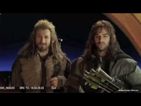 Aidan Turner & Dean O'Gorman Rock & Roll Dwarves