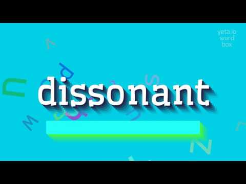 "How to say ""dissonant""! (High Quality Voices)"