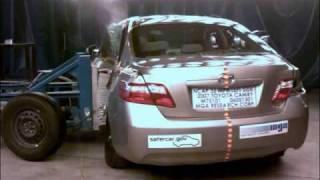 Crash Test 2007 - 2010 Toyota Camry / Daihatsu Altis /07 -  09  Lexus ES 350 (Side Impact) NHTSA