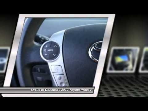 2012 toyota prius v at lexus of concord in concord for sale in