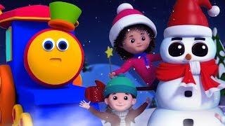 Bob il treno | pupazzo di neve di Natale | canzoni di Natale per i bambini | Bob Christmas Snowman
