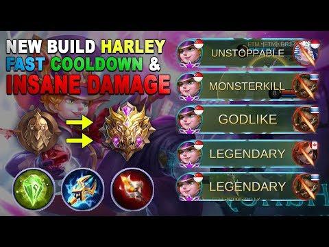 New Build Harley Legendary Kill Sakit Banget Cuy - Epic Legend Ranked Gameplay - Mobile Legends