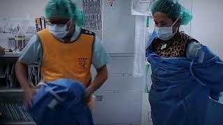 北里大学病院に聖マリアンナ医科大学 西巻 教授が呼び出され 頚動脈 内視鏡 ステント留置術をしてくれた