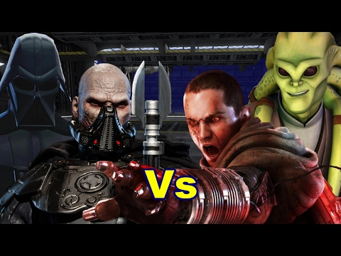 Darth Vader and Malgus vs Galen Marek and Kit Fisto - Jedi Academy Tag Team Bout |