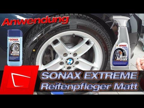 SONAX Xtreme ReifenPfleger Matteffect - Vergleich mit Reifen Glanzgel mit Samantha von Sonax