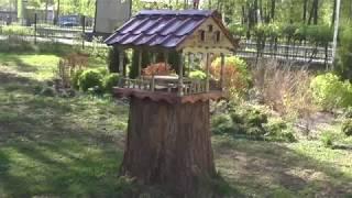 Кормушка для птиц, как самому сделать кормушку для птиц. Оригинальная кормушка для птиц.