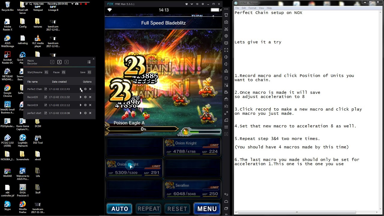 FFBE - How to create a perfect chain on NOX