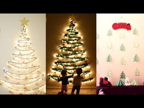 DIY Christmas Decor | DIY Wall-Mounted Christmas trees | Mytwolittlesunshines