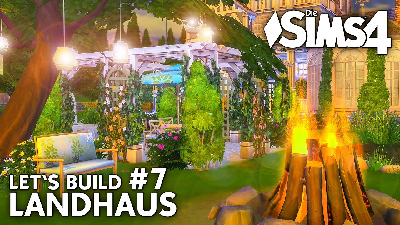 die sims 4 haus bauen landhaus 7 natur pool garten deutsch youtube. Black Bedroom Furniture Sets. Home Design Ideas