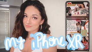 honest review of iPhone XR, what's on my iPhone, + how I edit my Instagram pictures!