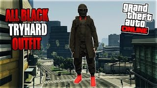 GTA 5 Online *DOPE* BLACK n' RED MODDED OUTFIT TUTORIAL Using Clothing Glitches! (Ps4, Xbox One, PC)