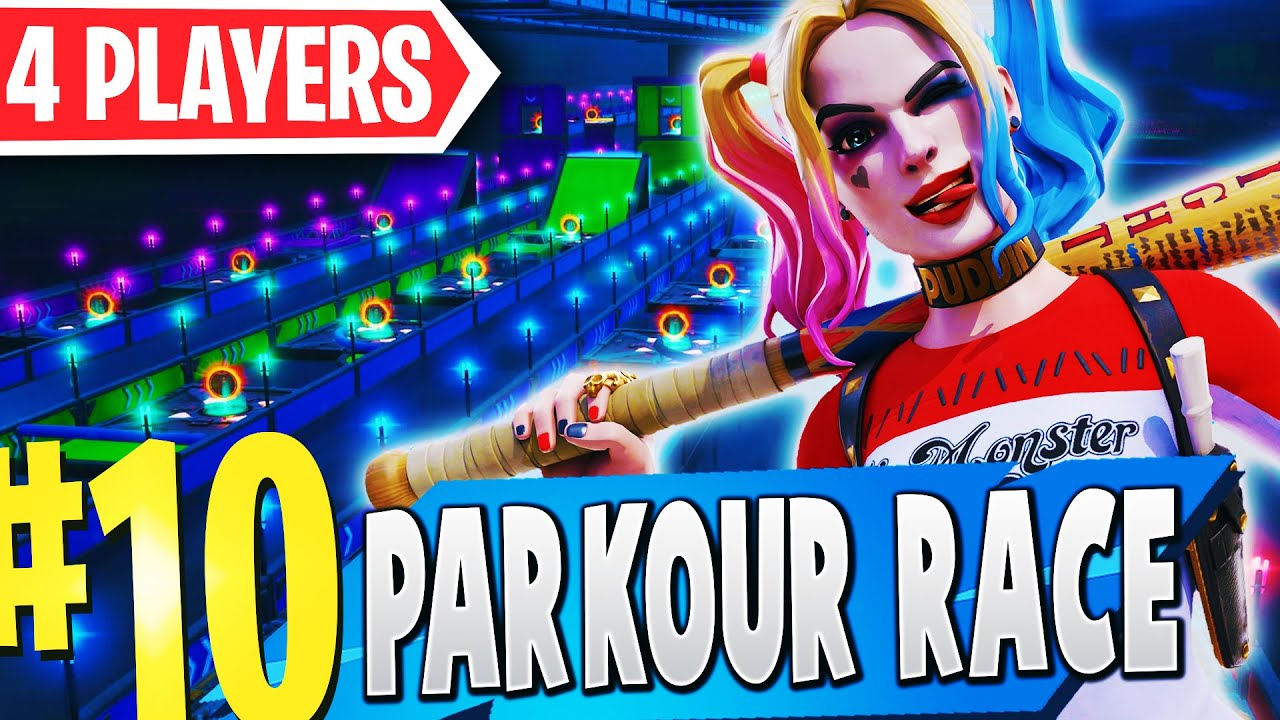 Parkour Race Map Fortnite Top 10 Best 4 Player Parkour Creative Maps In Fortnite Fortnite 4 Player Parkour Map Codes Youtube
